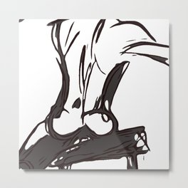 Let It roll off your back Metal Print