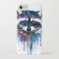 raccoon iPhone & iPod Cases featuring Raccoon by Slaveika Aladjova