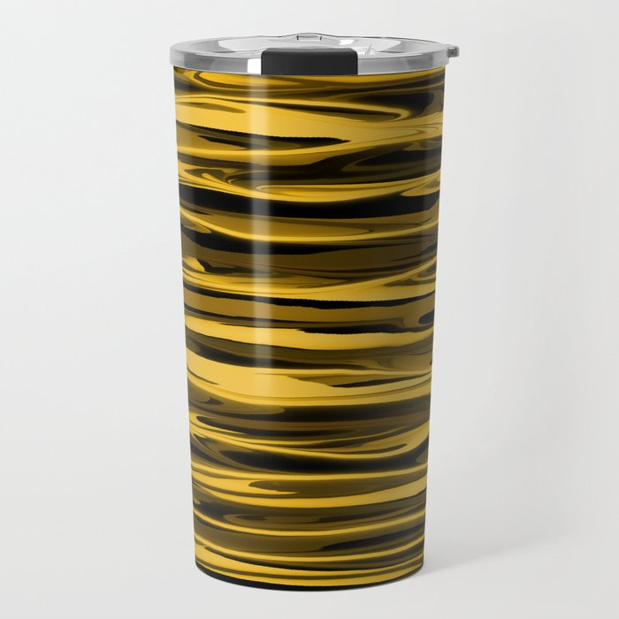 Honey Yellow Abstract Drizzle Travel Mug
