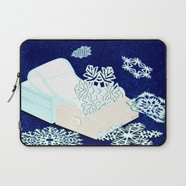 Dot Matrix Winter Laptop Sleeve