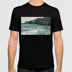 Oregon Coast II MEDIUM Black Mens Fitted Tee