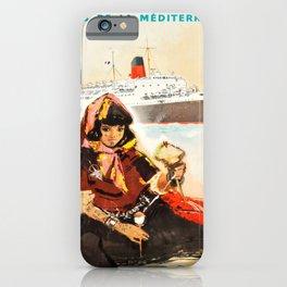 Plakat cie gle transatlantique lignes de iPhone Case