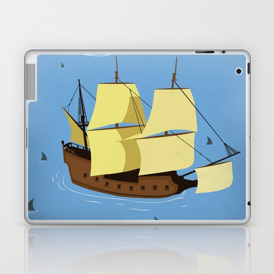 A Galleon on the High Seas Laptop & iPad Skin
