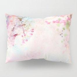 Pink Watercolor Floral Pillow Sham
