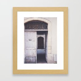 Cottage Doors in Bayeux Framed Art Print