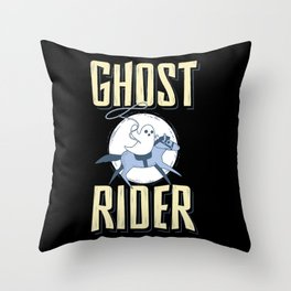 The Ghost Rider Throw Pillow