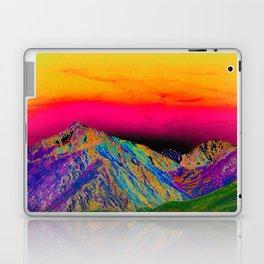 California's Sierra Mts-Digital Art, Green & Purple Laptop & iPad Skin