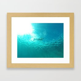 In The Blue Framed Art Print