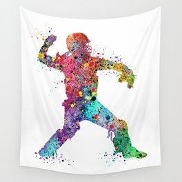 Baseball Softball Catcher 3 Art Sports Poster Wall Tapestry