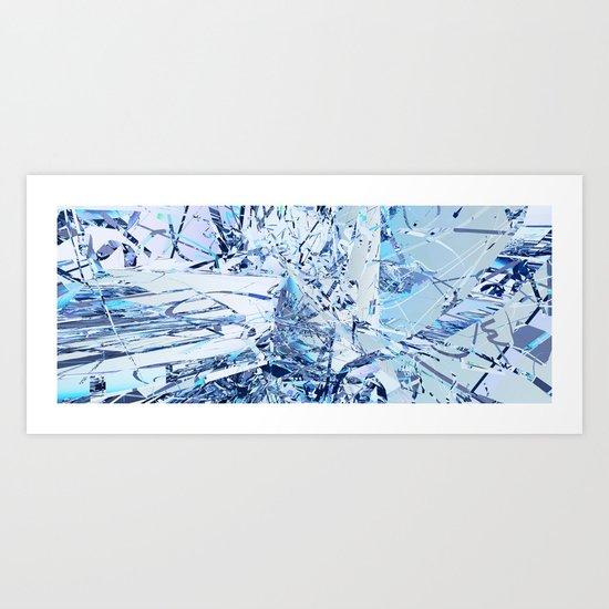 blauelautenimpakt Art Print