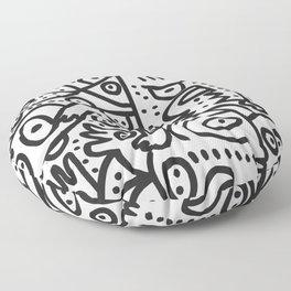 Black and White Graffiti Street art Ink Marker  Floor Pillow