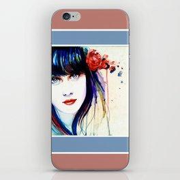 Zooey Watercolor iPhone Skin