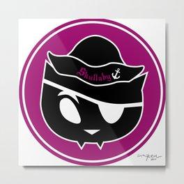 Skullaby Cat Logo Metal Print