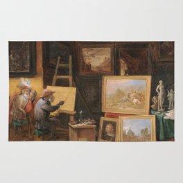 Teniers  David - The Monkey Painter Rug