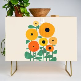 Sunflower and Bee Credenza