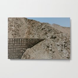 Wooden Trestle and Tunnel Metal Print