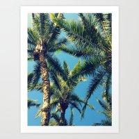 palm tree Art Prints featuring Palm Tree by Jillian Stanton