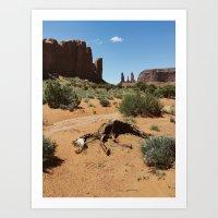 Monument Valley Horse Carcass Art Print