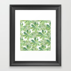 Tropical Branches Pattern 01 Framed Art Print