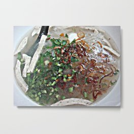 Thailand noodle soup delicious, satisfying food Metal Print