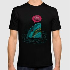 The Zombie Shark Black LARGE Mens Fitted Tee
