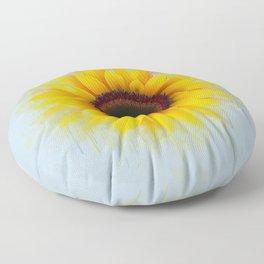 Sunflower Painting Floor Pillow