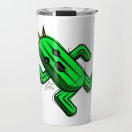 Cactuar Digital Drawing, Games Art, Kyactus, Final Fantasy Art Travel Mug