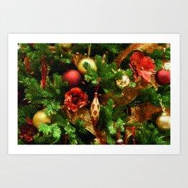 Christmas Garland Art Print