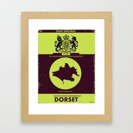 Vintage Dorset map cover. Framed Art Print