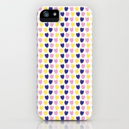 Confetti hearts falling. iPhone Case