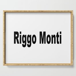 Riggo Monti Design #5 - Riggo Monti (Simple Text) Serving Tray