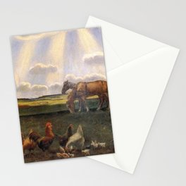 Columns of Sun over the Family Homestead on the American Plains by John Steuart Curry Stationery Cards