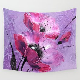 Pavot mauve Wall Tapestry
