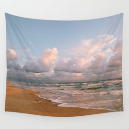 Moon over the Beach Wall Tapestry