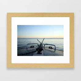 Boating Away Framed Art Print