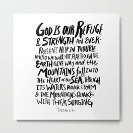 Psalm 46:1 Metal Print