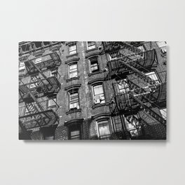 Manhattan Ladders Metal Print
