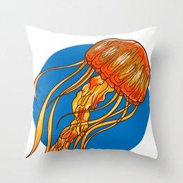 Jellyfish Medusa Sea Jellie Animal Trend Fish Gift Throw Pillow