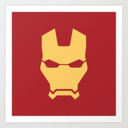 Iron man superhero Art Print