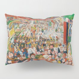 Christ's Entry into Brussels by James Ensor, 1889 Pillow Sham