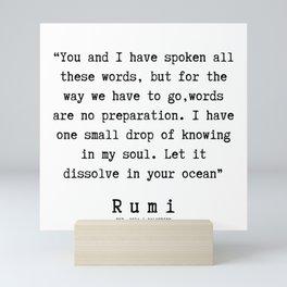 95  | Rumi Quotes | 190221 Mini Art Print