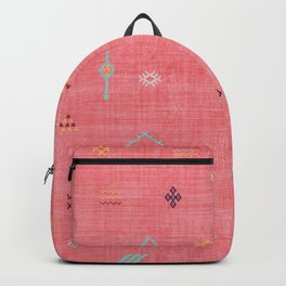 Cactus Silk Pattern in Pink Backpack