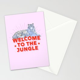 welcome to the jungle - retro tiger Stationery Cards