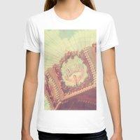 shabby chic T-shirts featuring Carousel Photograph - vintage circus, nursery decor, shabby chic by Scarlett Ella