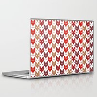 foxes Laptop & iPad Skins featuring Foxes  by creaziz