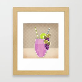 """Picture. The grape juice. From a set of paintings. The """"kitchen"""". Framed Art Print"""