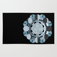 moon phases Area & Throw Rugs featuring Moon Phases by TypicalArtGuy