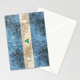 Vintage Aged and Scratched Nicaraguan Flag Stationery Cards