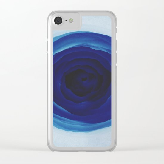 Blue rose Clear iPhone Case