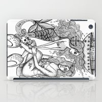 mermaids iPad Cases featuring Mermaids by Christina Dedic